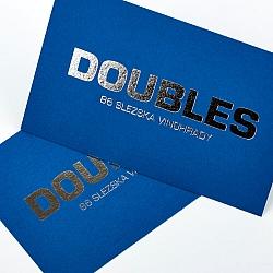 Ražba stříbrná folie modrý karton vizitka