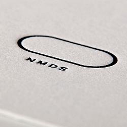 Letterpress černý tisk bílý karton vizitka