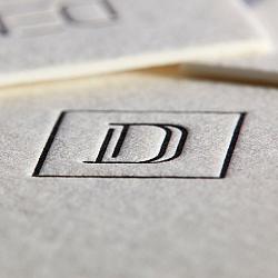 Letterpress vizitka D
